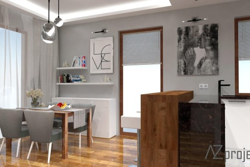 AZ projekty Apartament Mokotów 2