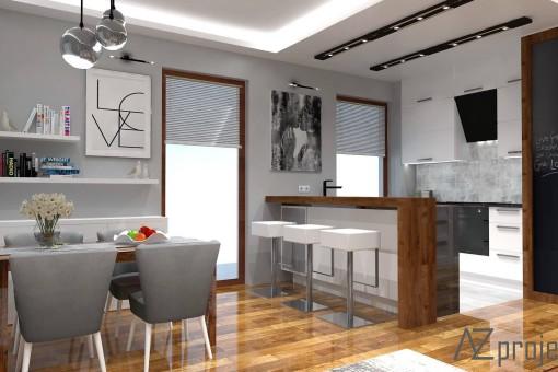 AZ projekty Apartament Mokotów 3