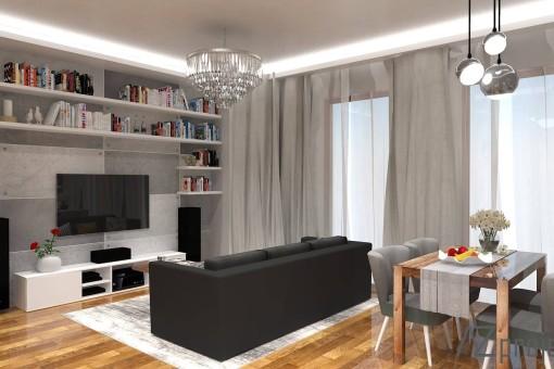 AZ projekty Apartament Mokotów 4