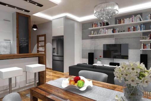 AZ projekty Apartament Mokotów 5