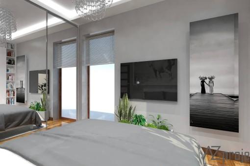 AZ projekty Apartament Mokotów 9